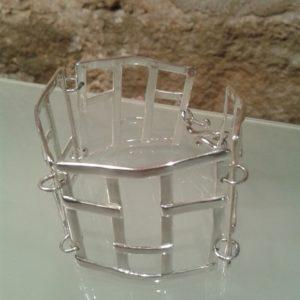 pulsera rejas plata articulada