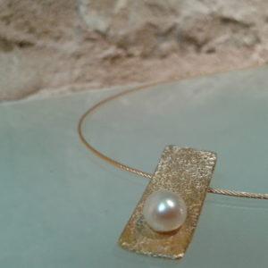 collar chapado perla moartespaibcn