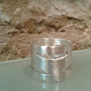 anillo xemeneies plata unisex