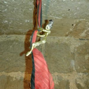 trapecista tela seda peinado alto