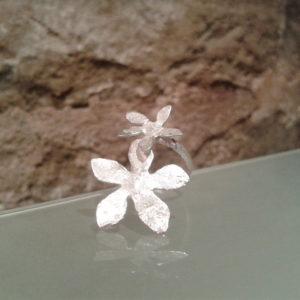 anillos especiales graduables plata texturada moart