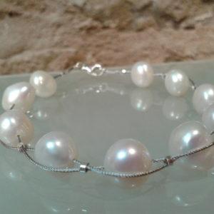 pulseras portables perlas actual