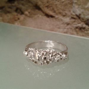 anillos originales texturas plata moartespaibcn