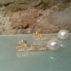 pendientes plata perla originales modernos barcelona