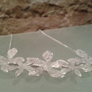 collar flores de plata joyas de autor